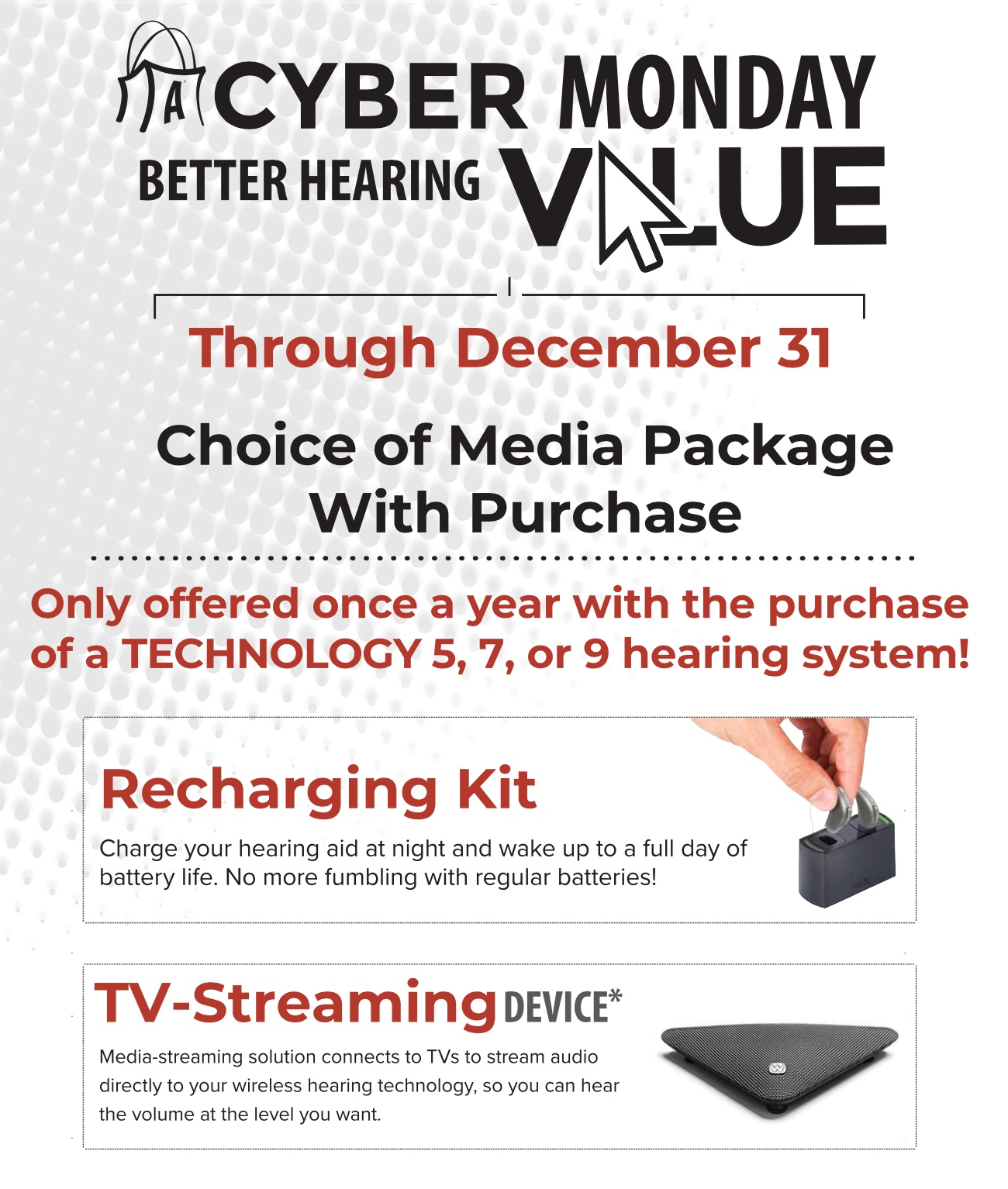 Cyber Monday Hearing Technology Package